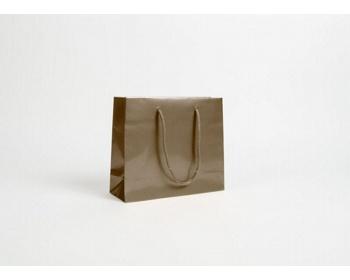 Náhled produktu Papírová taška LUX QUADRA - 24 x 20 x 8 cm - bronzová