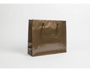 Náhled produktu Papírová taška LUX QUADRA - 32 x 27,5 x 10 cm - bronzová