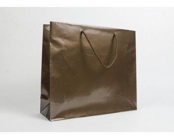 Náhled produktu Papírová taška LUX QUADRA - 42 x 37 x 13 cm - bronzová