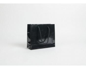 Náhled produktu Papírová taška LUX QUADRA - 24 x 20 x 8 cm - černá