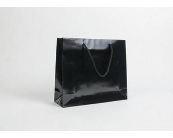Náhled produktu Papírová taška LUX QUADRA - 32 x 27,5 x 10 cm - černá