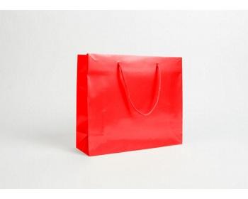 Náhled produktu Papírová taška LUX QUADRA - 32 x 27,5 x 10 cm - červená