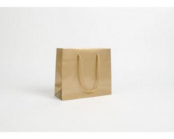 Náhled produktu Papírová taška LUX QUADRA - 24 x 20 x 9 cm - zlatá