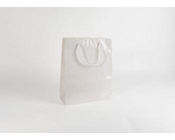 Náhled produktu Papírová taška M2 WHITE - 32 x 40 x 13 cm