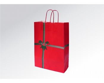 Náhled produktu Vánoční papírová taška NATALE - 26 x 41,5 x 11 cm