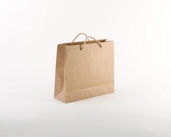 Náhled produktu Papírová taška NATURA LUX - 32 x 27,5 x 10 cm - přírodní hnědá