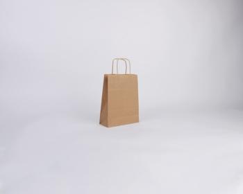 Náhled produktu Papírová taška NATURA TWIST - 18 x 24 x 8 cm - hnědá
