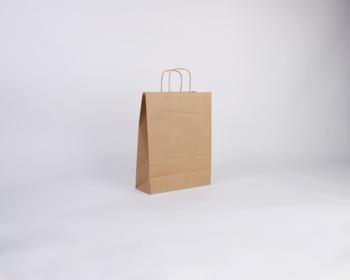 Náhled produktu Papírová taška NATURA TWIST - 24 x 33 x 11 cm - hnědá