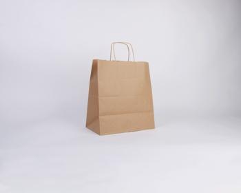 Náhled produktu Papírová taška NATURA TWIST - 30,5 x 34 x 17 cm - hnědá