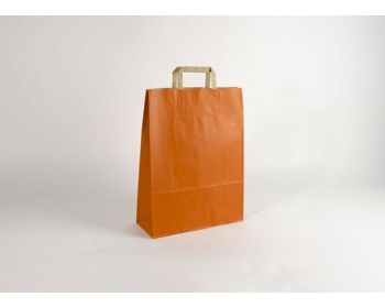 Náhled produktu Papírová taška RAINBOW ORANGE - 32 x 42,5 x 13 cm