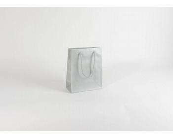 Náhled produktu Papírová taška SILVER - 22 x 27,5 x 10 cm