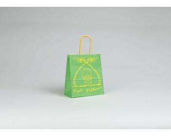 Náhled produktu Papírová taška VELIKONOCE - 18 x 20 x 8 cm - zelená