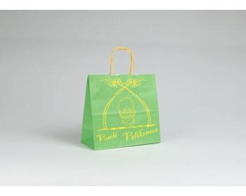 Náhled produktu Papírová taška VELIKONOCE - 24 x 25 x 11 cm - zelená