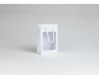 Náhled produktu Papírová taška VISTA WHITE - 16 x 24 x 8 cm - bílá