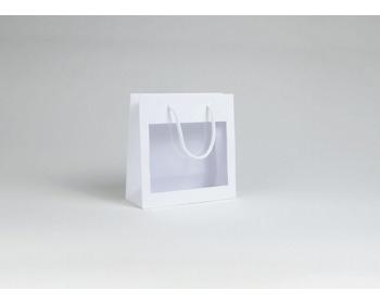 Náhled produktu Papírová taška VISTA WHITE - 23 x 23 x 9 cm - bílá