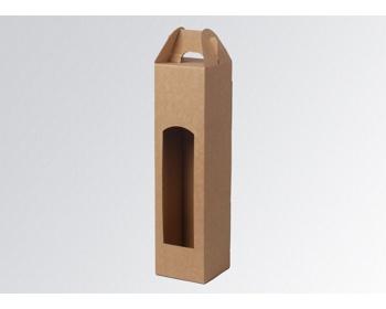 Náhled produktu Papírová krabice na 1 lahev vína WINEBOX NATURA - 8 x 34,5 x 8 cm