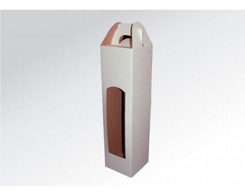 Náhled produktu Papírová krabice na 1 lahev vína WINEBOX WHITE - 8 x 34,5 x 8 cm