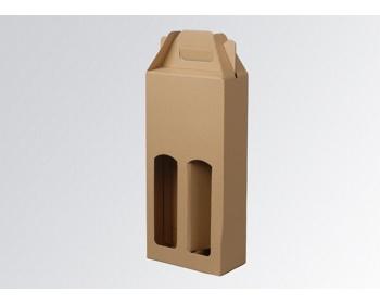 Náhled produktu Papírová krabice na 2 lahve vína WINEBOX NATURA - 16,5 x 34,5 x 8 cm