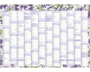 Náhled produktu Nástěnný roční kalendář 2020, 600x420 mm - levandule