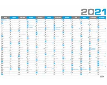 Náhled produktu Nástěnný roční kalendář 2020, B1 - modrá