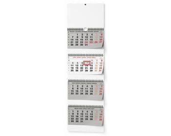 Náhled produktu Čtyřměsíční nástěnný kalendář - skládaný (s mezinárodními svátky) 2021