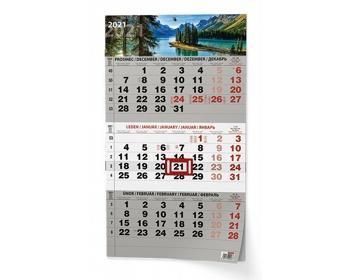 Náhled produktu Tříměsíční nástěnný kalendář s mezinárodními svátky 2021