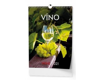 Náhled produktu Nástěnný kalendář Víno 2021