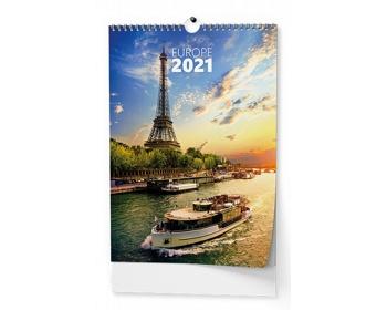 Náhled produktu Nástěnný kalendář Evropa 2021