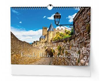 Náhled produktu Nástěnný kalendář Evropské hrady a zámky 2021