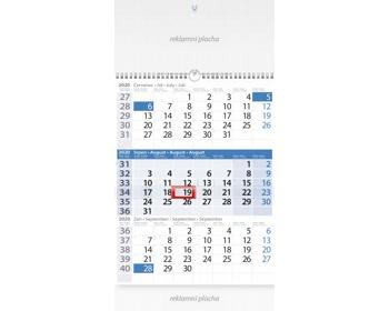 Náhled produktu Tříměsíční nástěnný kalendář s laší 2020