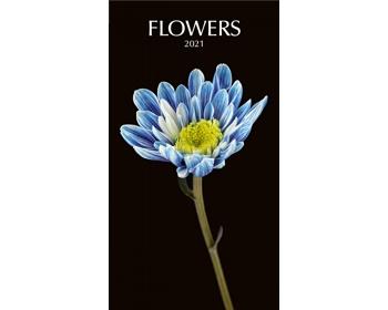 Náhled produktu Nástěnný kalendář Flowers black 2021