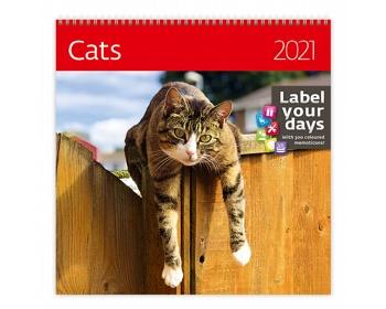 Náhled produktu Nástěnný kalendář Cats 2021