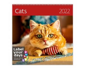 Náhled produktu Nástěnný kalendář Cats 2022