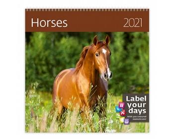 Náhled produktu Nástěnný kalendář Horses 2021
