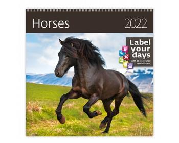 Náhled produktu Nástěnný kalendář Horses 2022