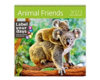 Náhled produktu Nástěnný kalendář Animal Friends 2022