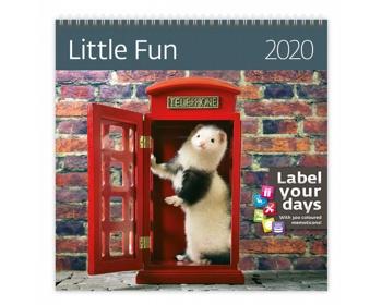 Náhled produktu Nástěnný kalendář Little Fun 2020 - se samolepkami