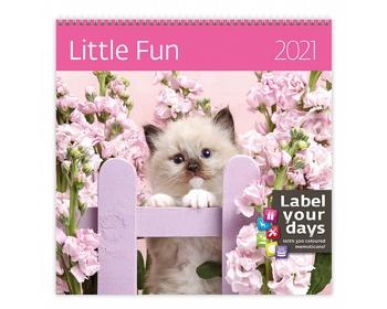 Náhled produktu Nástěnný kalendář Little Fun 2021