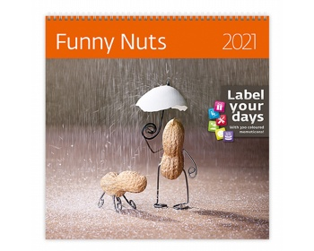 Náhled produktu Nástěnný kalendář Funny Nuts 2021