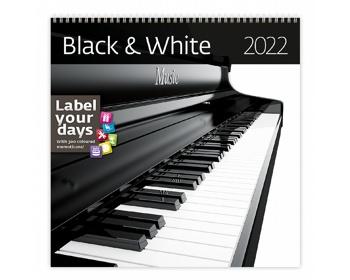 Náhled produktu Nástěnný kalendář Black & White 2022