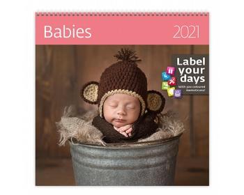 Náhled produktu Nástěnný kalendář Babies 2021