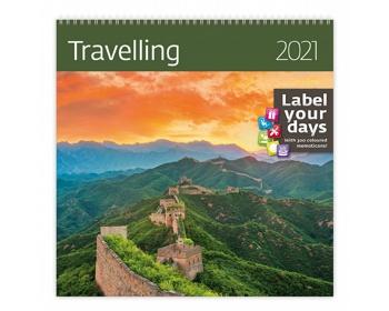 Náhled produktu Nástěnný kalendář Travelling 2021