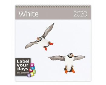 Náhled produktu Nástěnný kalendář White 2020 - se samolepkami
