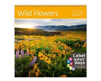 Náhled produktu Nástěnný kalendář Wild Flowers 2021