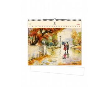 Náhled produktu Luxusní dřevěný nástěnný kalendář Romance 2021
