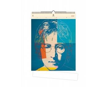 Náhled produktu Luxusní dřevěný nástěnný kalendář John Lenon 2020