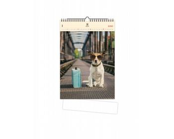 Náhled produktu Luxusní dřevěný nástěnný kalendář Dog 2020