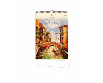 Náhled produktu Luxusní dřevěný nástěnný kalendář Venezia III 2020