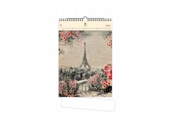 Náhled produktu Luxusní dřevěný nástěnný kalendář Eiffel Tower 2021
