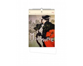 Náhled produktu Luxusní dřevěný nástěnný kalendář Montmartre 2021